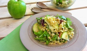 Salade de blé à la Fourme d'Ambert et pomme Granny Smith