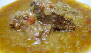 Sauce de gombo au boeuf
