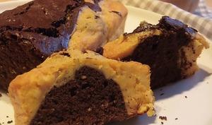 Cake marbré au chocolat et butternut