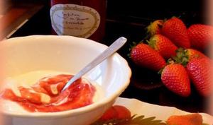 """Confiture """"Délices de fraises à l'orientale"""""""