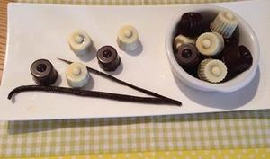 Bonbons chocolat praliné croustillant vanille