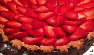 Tarte aux fraises sablé spéculoos
