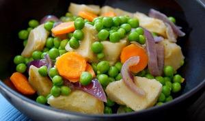 Printanière de légumes, artichaut et petits pois