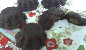 Mi-cuit au chocolat~coeur de matcha