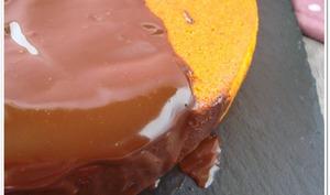 Gâteau carotte-amandes et ganache au chocolat sans gluten