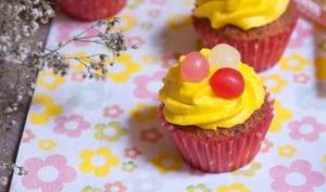 Cupcakes Citron, pavot et chocolat blanc