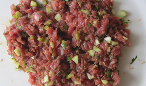 Tartare de boeuf traditionnel