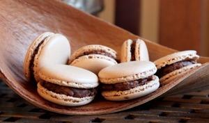 Macarons chocolat, noix de coco