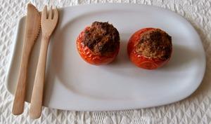 "Tomates farcies ""spécial"" restes de gigot"