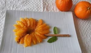 Salade d'oranges, cannelle, eau de fleur d'oranger