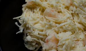 Salade de céleri au curry et aux crevettes