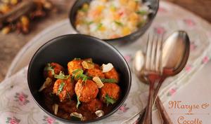 Keftas de poulet sauce curry