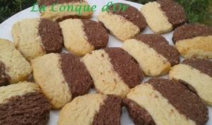 Biscuits bicolores sans œufs