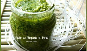 Pesto de roquette et persil