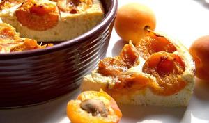 Abricotine, flan au tofu soyeux et aux aux abricots