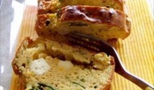 Cake de palak paneer à la farine de pois chiche