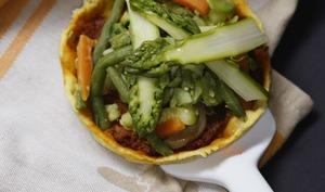 Tarte au curry aux légumes de printemps