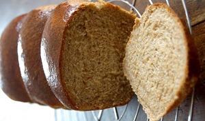 Brioche de Nanterre à la farine intégrale sans lait ni beurre - IG bas