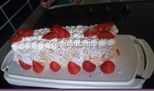 Roulé chantilly mascarpone/ fraises