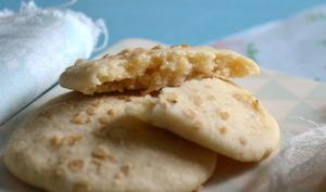 Cookies au lait de coco et pépites de chocolat blanc