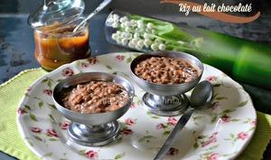 Riz au lait chocolaté ou riz au caramel beurre salé