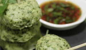 Bouchées poisson coriandre à la thaïlandaise et sauce pimentée