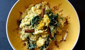 Riz de konjac au curry jaune et lait de coco