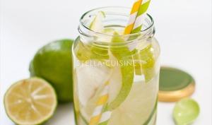 Detox Water : citron vert, pomme granny