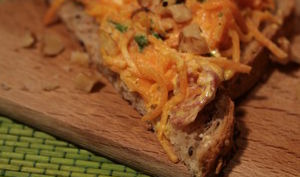 Tartines aux carottes, clémentines et gingembre