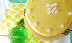 Funfetti lemon layer cake