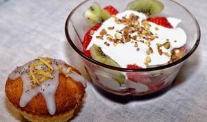 Coupes de fraises façon cheese-cake