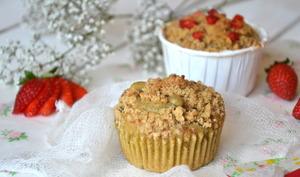 """Muffins """"streusel"""" à la fraise { Avec ou sans lactose }"""