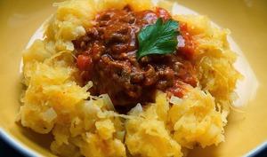 Courge spaghetti bolognaise