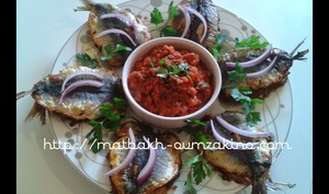 Sardine a la marocaine et sa charmoula au four