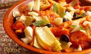 Penne aux crevettes et sauce tomate