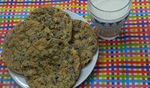 Cookies au son d'avoine et chocolat