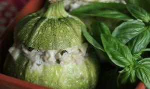 Courgettes farcies veau, mascarpone et gorgonzola