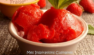 Sorbet a la fraise sans machine