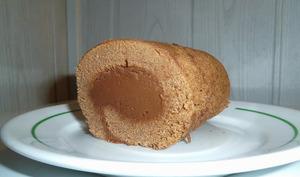 Gâteau roulé tout chocolat