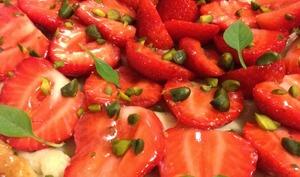 La tarte aux fraises et pistaches