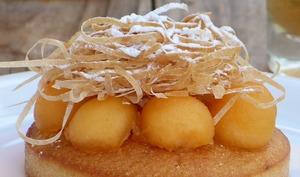 Tartelettes au melon et Ratafia de Champagne