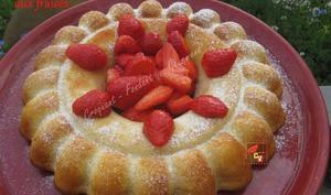 Gâteau fromagé aux fraises