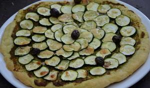 Pizza verte à la courgette