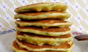 Pancakes de courgettes et maïs