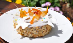 Gâteau Porte-Bonheur aux amandes et fruits confits