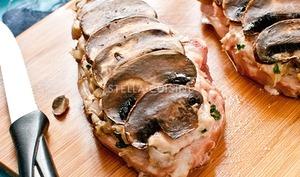 Côtes de veau en écailles de champignons