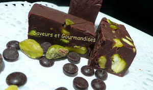 Chocolate Pistachio Fudge.