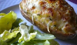 Pommes de terre farcies fromage et lardons