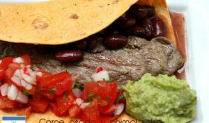 Carne asada y salsa chimol