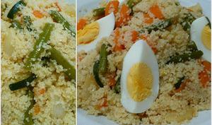 Couscous aux légumes vapeur.